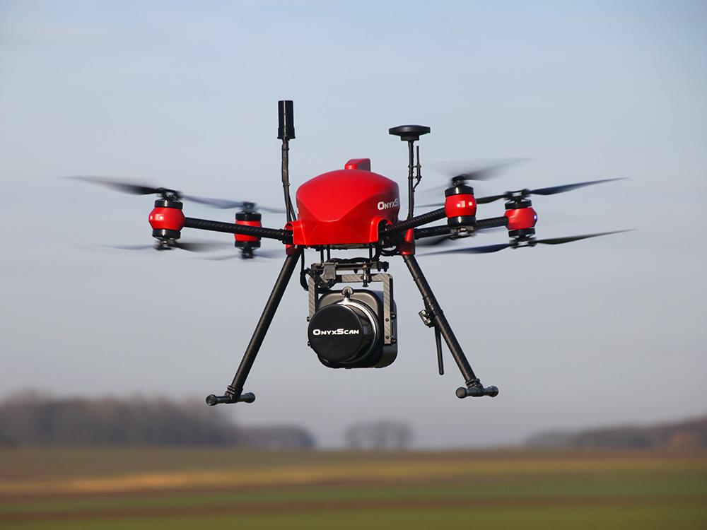 OnyxStar UAV LiDAR embedded systems - LiDAR drone OnyxScan, UAV 3D